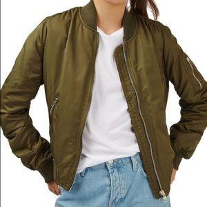 Top shop Olive Green MA1 Bomber Jacket